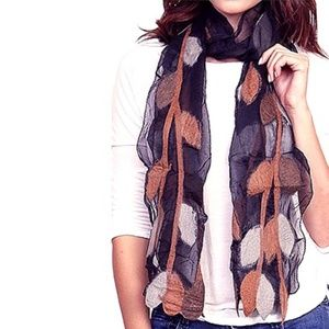 Accessories - New Fall Style Silk Scarf Wool Leaf Accented